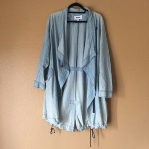 BB Dakota Chambray Drawstring Jacket - Medium